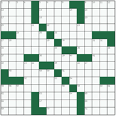 Free online American crossword №11: ICE-SKATER