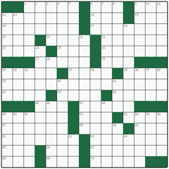 American crossword №13: EAST SIDE