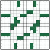 Free online American crossword №20: STRETCHER-BEARER