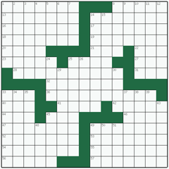 American crossword №3: SHADOWER