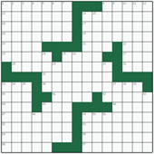 Free online American crossword №3: SHADOWER
