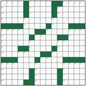 Free online American crossword №48: DOMESTIC SCIENCE