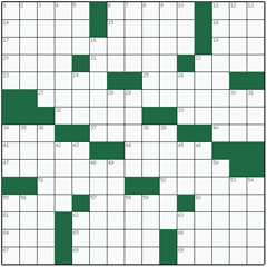 American crossword №50: STREET FIGHTER