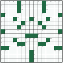 American crossword №6: SANDMAN