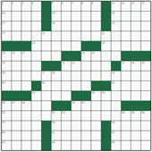 Free online American crossword №7: LAUGHING JACKASS