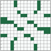 Free online American crossword №8: PLAY DATE