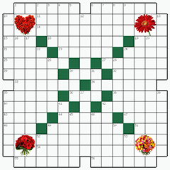 Crossword puzzle №2: FLOWERS