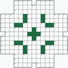 Crossword puzzle №24: DEVELOPER