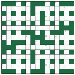 Cryptic crossword №1: AMENABLE