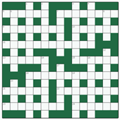 Free online Cryptic crossword №1: AMENABLE