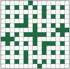 Cryptic crossword №38: SLALOM