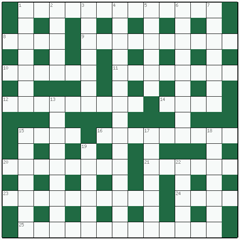 Cryptic crossword №5: NUPTIAL