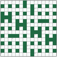 Cryptic crossword №6: WATTLE