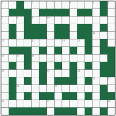 Freeform crossword №1: TOPOGRAPHIC