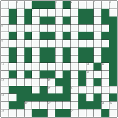 Freeform crossword №18: IN THE FIRST PLACE