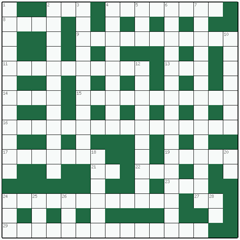 Freeform crossword №3: SPANIEL