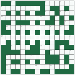 Freeform crossword №4: POTATO