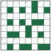 Free online Mini crossword №18: AUTOCRAT