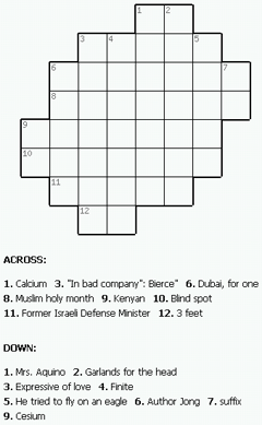 Print crossword puzzle for free