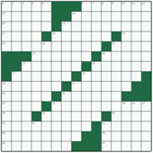Free online American crossword №1: PROVIDENT