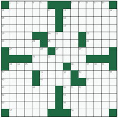 American crossword №2: MASONRY