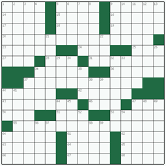 American crossword №22: STUMBLING BLOCK