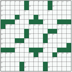 American crossword №25: INTERCHANGEABLE