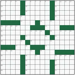 American crossword №33: HETERONOMY