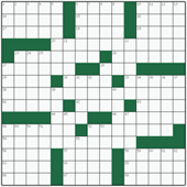 Free online American crossword №37: IDEOLOGICAL
