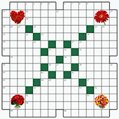 Free online Crossword puzzle №2: FLOWERS