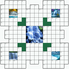 Crossword puzzle №6: WATERFALLS