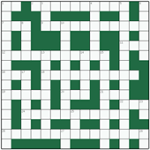 Free online Freeform crossword №1: TOPOGRAPHIC
