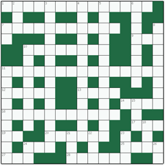 Freeform crossword №10: MERCHANT BANKS