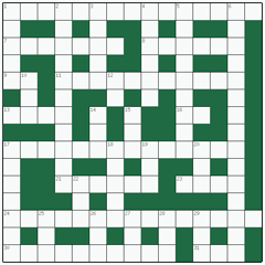 Freeform crossword №13: CASTLE IN THE AIR