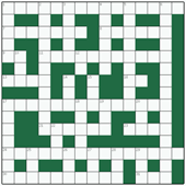 Free online Freeform crossword №13: CASTLE IN THE AIR