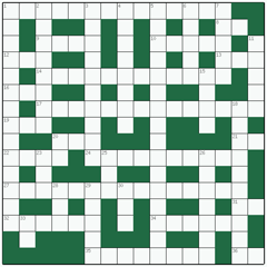 Freeform crossword №14: TRAP-DOOR SPIDER