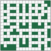 Free online Freeform crossword №14: TRAP-DOOR SPIDER