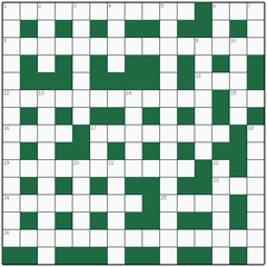 Freeform crossword №15: LEGITIMACY