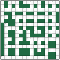 Freeform crossword №17: RUNNING TITLE