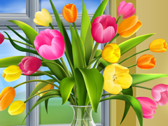 Free online Jigsaw puzzle N131: Morning bouquet