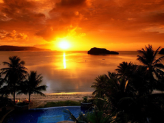 Free online Jigsaw puzzle N26: Beach sunset