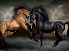 Free online Jigsaw puzzle N52: Horse tango