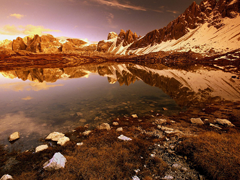 Free online Jigsaw puzzle N56: Mountain pond