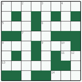 Free online Mini crossword №14: STANNIC
